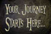 Your Journey Starts Here Concept — Stock Photo
