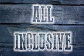 All Inclusive Concept — Stock Photo