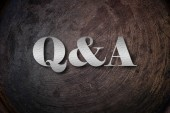 Q&A Text on Background — Stockfoto