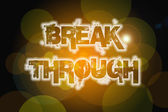Break Through Concept — Stock Photo