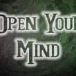 Open Your Mind Concept — Stock Photo #56269223