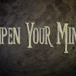 Open Your Mind Concept — Stock Photo #56269225