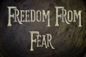 свобода от страха концепции — Стоковое фото