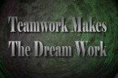 Teamwork Makes The Dream Work text on Background — Stok fotoğraf
