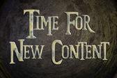 время для новой концепции содержимому — Стоковое фото