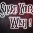 Share Your Wish Concept — Stock Photo #56275527
