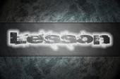 Testo di lezione su sfondo — Foto Stock