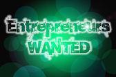 Entrepreneurs Wanted Concept — Stock Photo