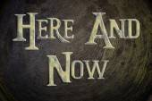Here And Now Concept — Stock Photo