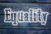 Gelijkheid concept — Stockfoto