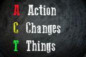 Actie verandert dingen — Stockfoto