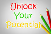 Unlock Your Potential Concept — Stock Photo