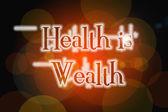 Health Is Wealth Concept — Zdjęcie stockowe