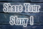 Share Your Story Concept — Stockfoto