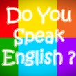 Do You Speak English Concept — Stock Photo #56291575