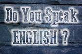 Do You Speak English Concept — Stock Photo