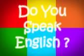 Você fala inglês conceito — Foto Stock