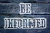 Be Informed Concept — Stock Photo