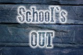 School's Out Concept — Stock Photo