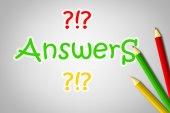 Concepto de respuestas — Foto de Stock