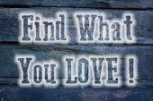 Find What You Love Concept — Foto de Stock