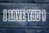I Love You Concept — Stock Photo