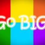 Go Big Concept — Stock Photo #56300747