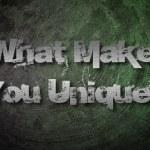 Постер, плакат: What Makes You Unique Concept