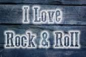 I Love Rock And Roll Concept — Foto de Stock