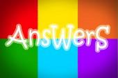 Conceito de respostas — Foto Stock
