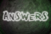 Answers Concept — Stock Photo