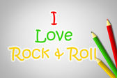 I Love Rock And Roll Concept — Stock Photo