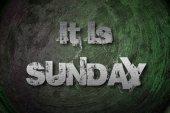 It's Sunday Concept — Zdjęcie stockowe