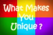 What Makes You Unique Concept — Stock Photo