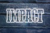 Impact Concept — Stock Photo