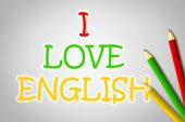 Love English Concept — Stockfoto