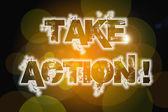 Take Action Concept — Stock Photo