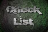 Concepto de lista de verificación — Foto de Stock