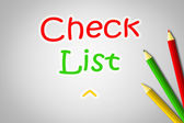 Checklist Concept — Stock Photo
