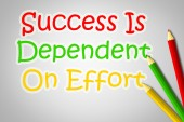 Success Is Dependent On Effort Concept — Stock Photo