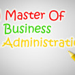 Master Of Business Administration Concept — Stock Photo #56311747