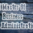 Master Of Business Administration Concept — Stock Photo #56311757
