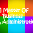 Master Of Business Administration Concept — Stock Photo #56311787