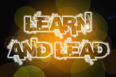 Learn And Lead Concept — Stock Photo