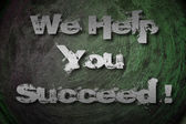 We Help You Succeed Concept — Stock Photo