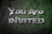 You Are Invited Concept — Stock Photo