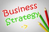 Iş stratejisi kavramı — Stok fotoğraf