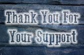 Thank You For Your Support Concept — Stock Photo