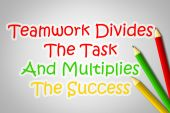 Teamwork Divides The Task And Multiplies The Success Concept — Stockfoto