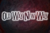Old Way New Way Concept — Stock Photo